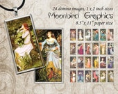 Digital Collage Sheet – 1 x 2 inches Images- Printable Download for Pendants, Earrings, Charms