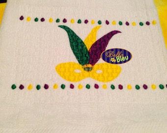 Faux Smocking Mardi Gras Mask Machine Embroidery Design
