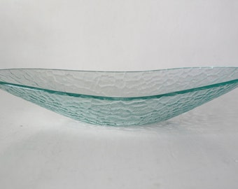 Scandinavian Ice glass bowl Mid Century Modern Danish