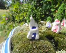huge set of 25 little fairy gnome homes great for partys favors toppers holidays fairy gardens terrariums