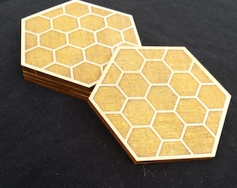 Honeycomb Wood Coasters