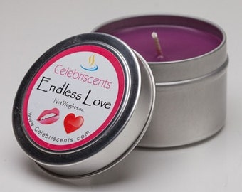 Hypnotic and romantic cherry blossom and peach blend scented soy candle boasts a sexy aroma that makes cupid strike.  Great for Valentine's.