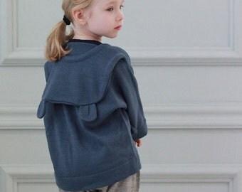 Bear ear hoodie pullover knit play shirt