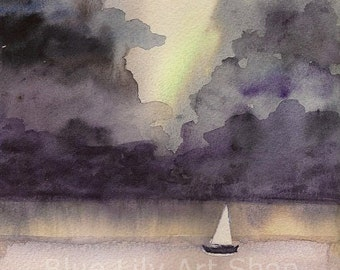 Stormy Weather - Watercolor Print
