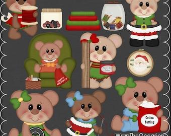 Santa's Seamstresses Clipart