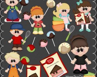 Cake Pop Kids I Clipart