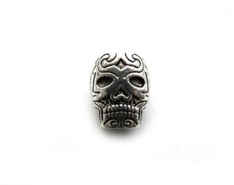 6 Tribal Skull Beads