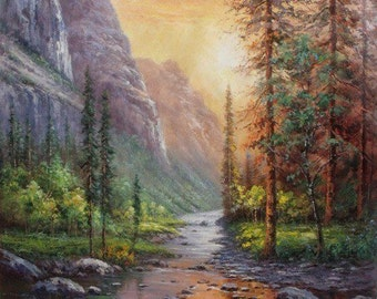 Original oil painting, custom hand painted decorative original landscape painting and oil portrait painting on canvas