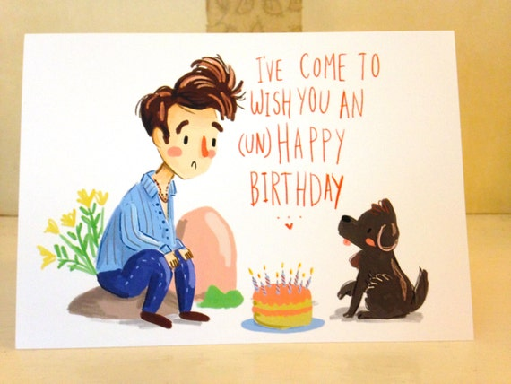 unhappy birthday the smiths / morrissey greeting by socutecompany, Birthday card