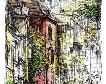 MONTMARTRE, rue de l'Abreuvoir