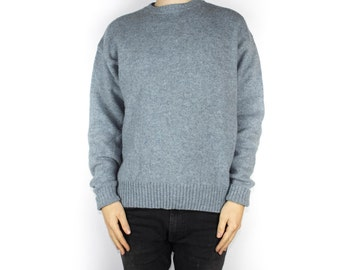 Pendleton 100% wool Pullover sweater / light blue crew neck / tall slim fit / Mens Large
