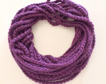 Royal Purple Chain Scarf