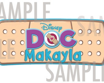 Doc Mcstuffins BANDAID SIGN- personalized with name!! PRINTABLE!