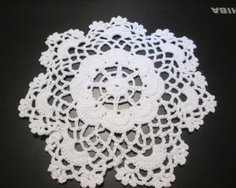 Cotton crochet doily 6.5 inches 2 for 5 dollars
