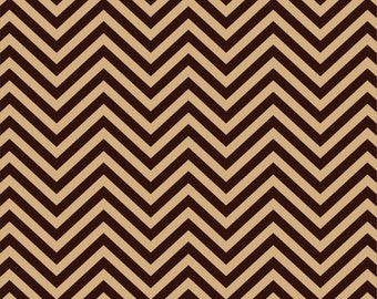Brown chevron craft  vinyl sheet - HTV or Adhesive Vinyl -  zig zag pattern two tone dark brown and tan HTV172