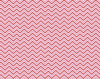 Pink and red mini chevron craft  vinyl sheet - HTV or Adhesive Vinyl -  zig zag pattern  HTV179