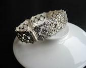 RESERVED Art Deco classics, silver bracelet by Kollmar and Jourdan, Germany, 1920s.