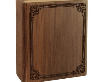 Walnut Book Wood Cremation Urn