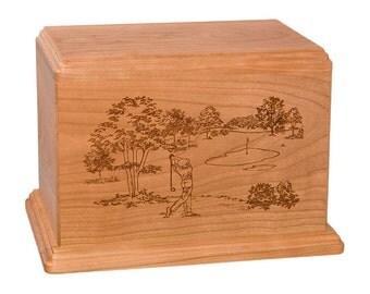 Cherry Golf Wood Cremation Urn