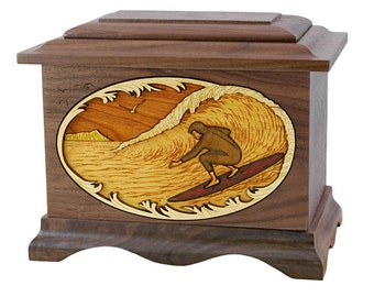 Walnut Surfer Ambassador Wood Cremation Urn