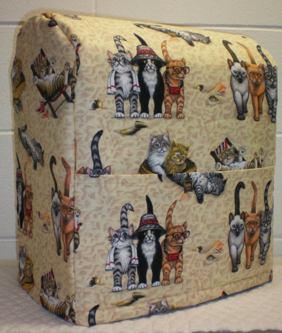 Tan Beach Cats Lined Cover For Sunbeam By Pennysneedfulthings