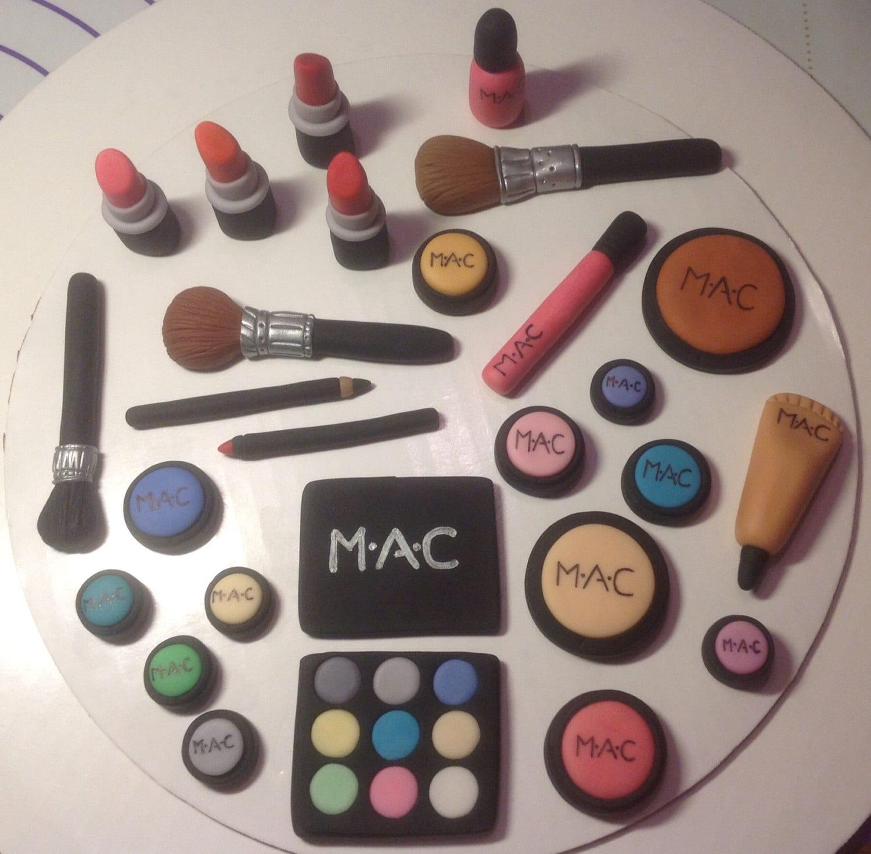 Edible Cake Decorations Makeup : Makeup Cupcake Toppers images