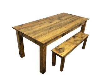 Rustic Barn wood Farmhouse Table / Harvest Table / Reclaimed wood Table
