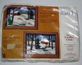 Vintage Longstitch Needlepoint Kit-Snow Covered Bridge-The Creative Circle #2501