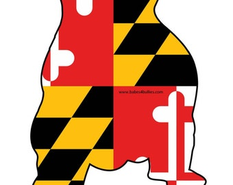 MD Flag Pittie Decal