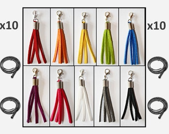 10x Handmade Whip / Flogger Charm with Lobster Clasp - Fifty Shades of Grey Bulk