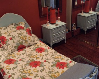 Clearance: French Provincial Bed and Nightstand