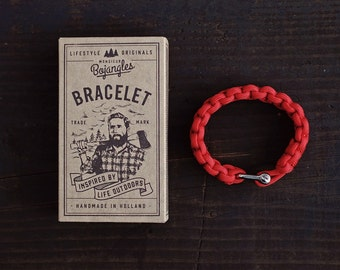 Handmade Paracord Lumberland Bracelet/Armband Mens/Womens Red