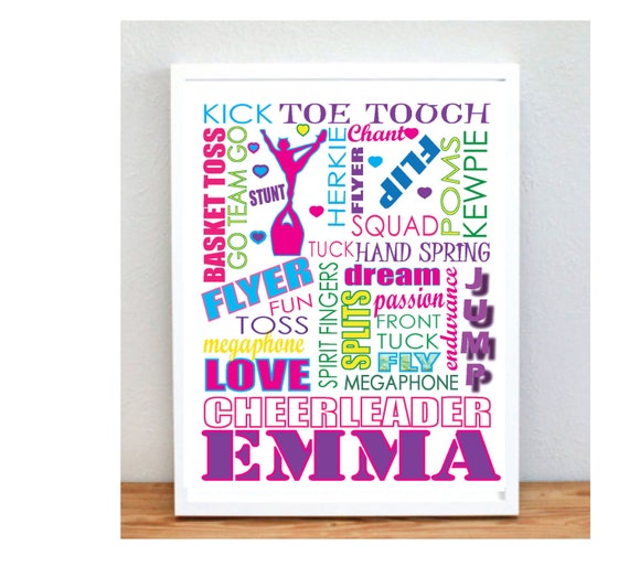 Cute Personalized Cheerleading Gifts Poster By Gymnasticsgifts