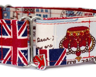 "Noddy & Sweets Adjustable Martingale Collar [1"", 1.5"", 2"" Homeland GB]"