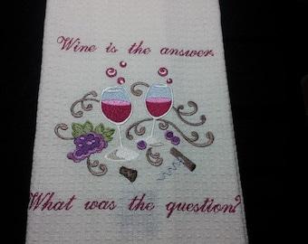 Dishtowels Embroidered