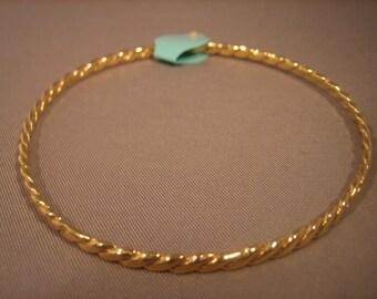 14 Karat Gold Bracelet Handmade