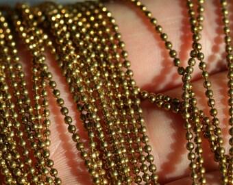 10 meter 33 feet 1,5 mm 15 gauge Raw Brass Ball Chain