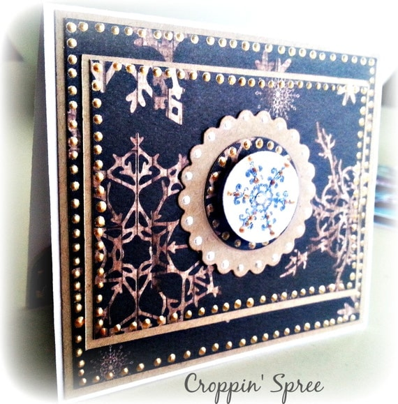 Christmas Card & Gift Card Holder in One: Happy Holidays. Navy Blue, Gold and White Ready to Ship