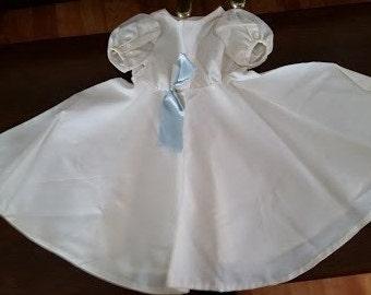Vintage Ivory Satin Doll Dress