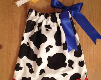 Cowgirl Pillowcase Dress and Headband Set