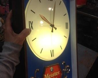 Vintage Meister Brau Beer Clock
