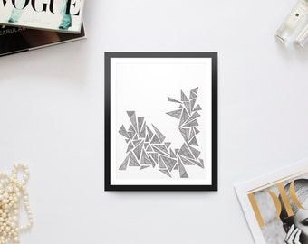 Geometric Triangle Print
