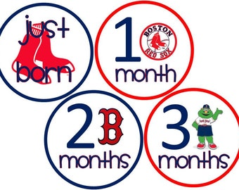 Red Sox Baby Belly Stickers - Boy or Girl