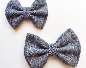 Chambray Double Bow
