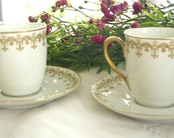 Antique Teacup, Ahrenfeldt Limoges Vintage Tea Cups, Collector's Teacup