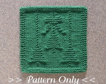 Knitted DISHCLOTH Elephant PATTERN Instant by AuntSusansCloset