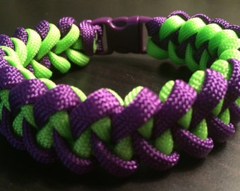 NEW!! Survival Paracord Piranha Weave Bracelet - Custom Made in the USA