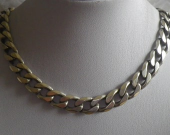 Reduced Sale Vintage Sterling Silver 925 Curb Link Necklace