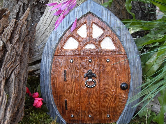 Large fairy gnome doorpirate doorfairy door by for Large gnome doors
