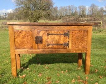 Oak Medieval / Tudor style Hutch Table